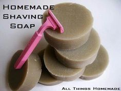 Shaving Soap Bars Ingredients:1 bar of natural, handcrafted soap**(Ex Yardley soap in natural section of grocer) 1 TBSP olive or almond oil or aloe vera gel1-2 TBSP white clay, french clay, kaolin, or cosmetic clay. Directions:Grate soap and on low heat, melt soap down with oil or aloe vera. Be patient and stir often.Once melted, stir in the cosmetic clay. Pour into molds (cupcake tins lined with paper, cardboard cut out molds lined with wax paper) Let set for several days until it re-harden...