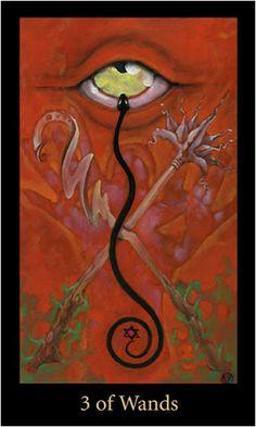Tiết lộ Lá 3 of Wands – Bộ Bài Mary-el Tarot bài tarot