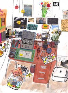 Sir Magazine - The workspace of Maisie Shearring (www.sirmagazine.be)
