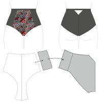 a well explained and thorough tutorial on how to make panty pattern from scratch