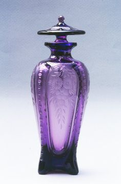 Home Decor Objects : Carder Steuben Cologne Bottle Perfume Atomizer, Antique Perfume Bottles, Old Bottles, Vintage Bottles, Glass Bottles, Vases, Perfumes Vintage, Lovely Perfume, Bottle Vase
