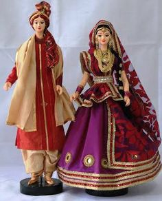 Delhi couple Wedding Doll, Barbie Wedding, Homemade Dolls, Indian Costumes, Indian Dolls, Handmade Decorations, Wedding Decorations, Pretty Dolls, Barbie And Ken