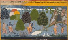Indian Epics: Images and PDE Epics: Image: Rama and Lakshmana Search for Sita