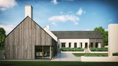 Modern Martinstown House by local Architects Slemish Design Studio. Style At Home, Bungalow Haus Design, Bungalow Ideas, House Designs Ireland, House Outside Design, Modern Family House, Rural House, Local Architects, Modern Farmhouse Exterior