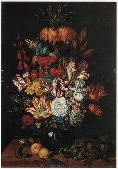 Abraham Bosschaert Painting - Vase Of Flowers by Abraham Bosschaert