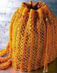 Free Crochet Bag Patterns Part 14 - Beautiful Crochet Patterns and Knitting Patterns Free Crochet Bag, Crochet Market Bag, Diy Crochet, Crochet Bags, Crochet Granny, Crochet Diagram, Crochet Chart, Crochet Handbags, Crochet Purses