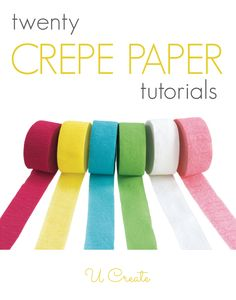 Tons of amazing crepe paper tutorials (hot air balloon piñata, confetti, flowers, you name it)!