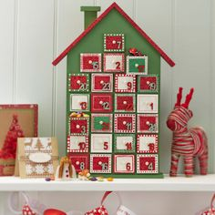 Hobbycraft Wooden Advent House Undecorated | Hobbycraft