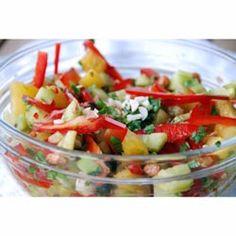 Recipe for Thai Crunchy Salad Indian Food Recipes, Vegetarian Recipes, Healthy Recipes, Ethnic Recipes, Chutney, Salad Recipes, Salsa, Spices, Summer