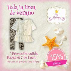 AHORA 15% OFF Disfruta el verano con el estilo My Princess Lu-Sa de 10.00 a 14.00 y de 16.00 a 20.00 hrs ¡¡ Te esperamos !!