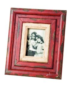 Treat snapshots like the treasures they truly are with this distressed picture frame. Perfect for photos of little ones or the whole family, this piece gives photos the presentation and treatment they deserve.9.5'' W x 11'' H x 1'' DHolds 3'' W x 5'' H photoWood / glassImported