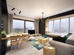 couleur turquoise intérieur tendance table en bois chaise en bois table basse pour canapé coussins