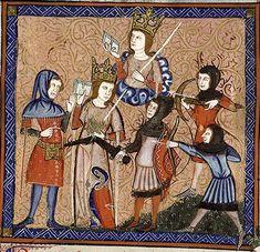 Bib. Ste. Genevieve MS.1126 - Roman de la Rose Folio: 111r-1 Location: Paris, France Dating: 1350 - 1360 Institution: Bibliothèque Sainte-Geneviève
