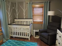 Contemporary Kids Bedroom with Mural, Carpet, High ceiling, Hardwood floors