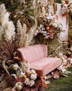 Try The Trend: Creative Ways to Use Pampas Grass in Your Wedding Decor · Wayfarers Chapel Wedding Lounge, Boho Wedding, Wedding Flowers, Dream Wedding, Wedding Beauty, Wedding Backyard, Bouquet Wedding, Wedding Things, Destination Wedding