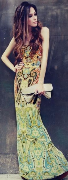 colorful maxi ♥✤ | Keep the Glamour | BeStayBeautiful