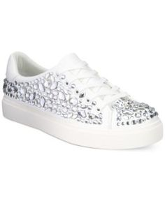 0576ed0d Aldo Zellina Jewel Embellished Lace-Up Sneakers - White 6.5B Aldo Shoes,  Lace