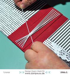 Minialbum mit Gummibindung für Inspirationenhefte | #MitmachMontag Tutorial von Ulrike Ahlers für www.danipeuss.de #minialbum #srapbooking #tutorial #danipeuss #diy
