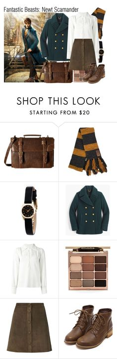 """""""Newt Scamander"""" by elliespringfa ❤ liked on Polyvore featuring Scully, Marc by Marc Jacobs, J.Crew, See by Chloé, Stila, Helmut Lang, harrypotter and fantasticbeasts"""
