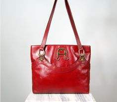 1970s Etienne Aigner oxblood leather tote by Ambercityvintage, $65.00