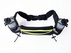 Hydration Running Belt Hiking Waist Pack 2 9oz Water Bottles Outdoors Camping