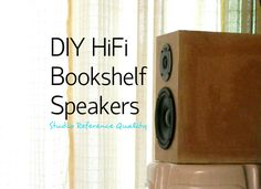 DIY HiFi Bookshelf Speakers (Studio Reference): 11 Steps (with Pictures) Diy Bookshelf Speakers, Cool Bookshelves, Hifi Speakers, Built In Speakers, Speaker Amplifier, Hifi Audio, Book Shelves, Diy Electronics, Electronics Projects