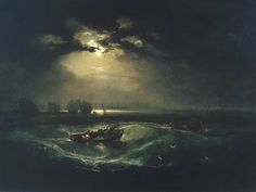 Artwork details  Artist  Joseph Mallord William Turner (1775‑1851)  Title  Fishermen at Sea  Date  exhibited 1796  Medium  Oil paint on canvas