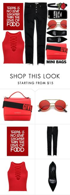 """""""Mini Bags"""" by madeinmalaysia ❤ liked on Polyvore featuring Givenchy, ZeroUV, Trademark Fine Art, Madewell, WithChic, Dsquared2 and minibags"""