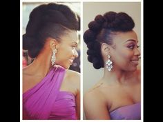 RedCarpet-Ready Natural Hair Updo Inspired by Teyonah Parris! (Felicia Leatherwood) - YouTube