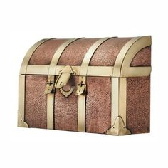 Wall Mount Trunk Copper Mailbox by Good Directions. $157.99. Made from solid copper. Warranty: One year. Etched finish. Made in India. Handcrafted brass accents. Wall Mount Trunk Copper Mailbox Add beauty and elegance to your home with this Steamer Trunk Copper Mailbox. Handcrafted brass accents highlight these solid copper mailboxes and an etched finish enhances the overall design. Made to resemble a treasure chest, the Steamer Trunk mailbox is sure to impress. Features: . B...
