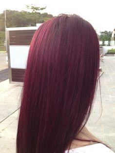 Goldwell Violet Red hair color, no bleaching require, - Hair Colour Red Violet Hair, Violet Hair Colors, Plum Hair, Red Hair Color, Purple Hair, Hair Colours, Ash Grey Hair, Brown Hair, Cherry Hair Colors