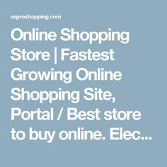 Online Shopping Store | Fastest Growing Online Shopping Site, Portal / Best store to buy online. Electric Cookers | Expro shopping known as the best online shopping site for complete range of kitchenware and Electric Cookers products
