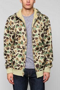 Burton Bonded Pullover Zip-Up Hoodie Sweatshirt