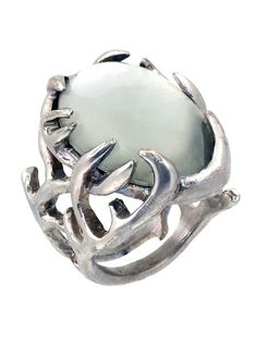 House of Harlow 1960 Antler Ring with Cabochon