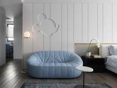 Apartment Interior by Vattier Design Bedroom Couch, Kids Bedroom Furniture, Apartment Interior, Room Interior, Interior Design, Luxury Homes Interior, Luxury Home Decor, Bedroom Decor For Small Rooms, Bleu Pastel