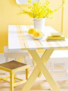 Amarillo/blanco