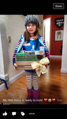 Sofia Daisy Scout- Girl Scout cookie sales