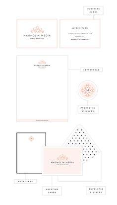 [Collateral designs for Magnolia Media PR - Elle & Company]
