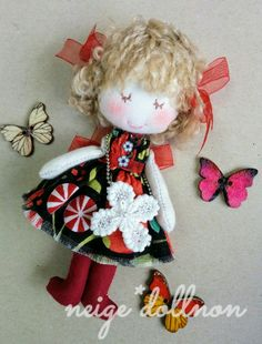 Fabric Dolls, Doll Clothes, Christmas Ornaments, Holiday Decor, Pattern, Handmade, Crafts, Daisies, Craft