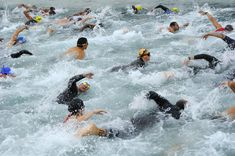 Whether you're brand new to triathlon and open water swimming or you're a pro these 10 open water swimming tips will keep you happy & safe on race day. Swimming Tips, Open Water Swimming, Swimming Benefits, Swimming Workouts, What Is A Triathlon, Olympia, When Things Go Wrong, Triathlon Training, World Problems