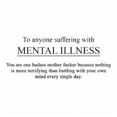 Mental Health for All. Sorry about the language but this has to be said!