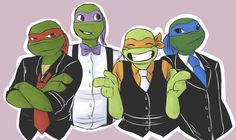 TMNT on prom night or at my wedding(with Raph)... :D