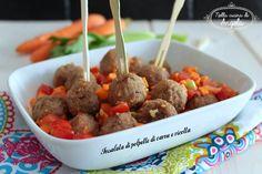 Insalata di polpette di carne e ricotta e verdurine