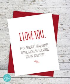 Funny Valentine's Day Card by FlairandPaper on Etsy
