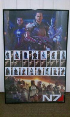 A homemade Mass Effect poster submitted by Dominic Castro
