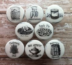 vintage handmade kitchen knobs drawer pulls - shabby chic home storage organization -f39187.jpg (1500×1343)