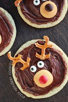 Easy reindeer sugar cookies.