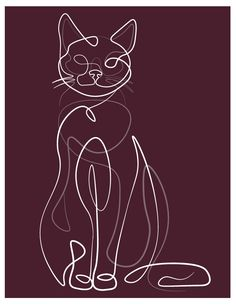 hay fiverrs, Im designer graphic on abstract ilustration and i have passion on line art drawing. Abstract Line Art, Abstract Drawings, Cat Drawing, Line Drawing, Art Abstrait Ligne, Outline Art, Cat Outline Tattoo, Minimalist Art, Minimalist Cat Tattoo