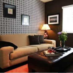 Wallpaper Accent Wall Design Ideas, Pictures, Remodel, and Decor - page 5