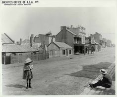 Looking South Down Princes Lane, The Rocks - Sydney, Australia, 1900 The Rocks Sydney, Sydney City, Historical Pictures, Hotels And Resorts, Sydney Australia, Ghost Towns, Old Photos, Old Things, Aussies